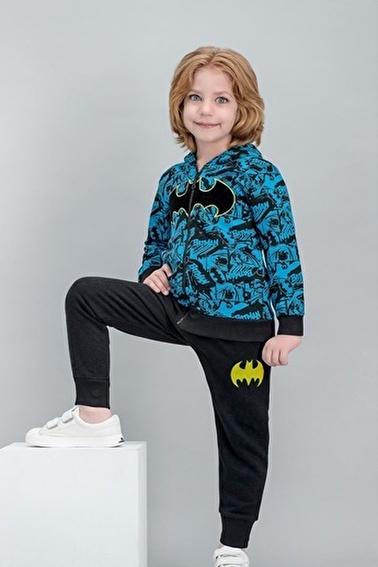 Batman Batman Lisanslı Petrol Erkek Çocuk Kapüşonlu Eşofman Takımı Yeşil